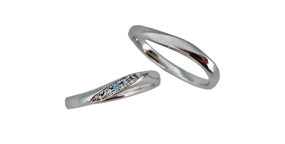 Twist wave ring -marine Blue-
