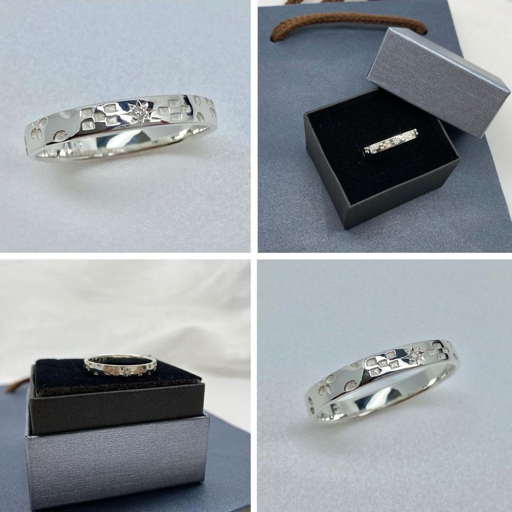桜ミンサー指輪-3.5ミリ-