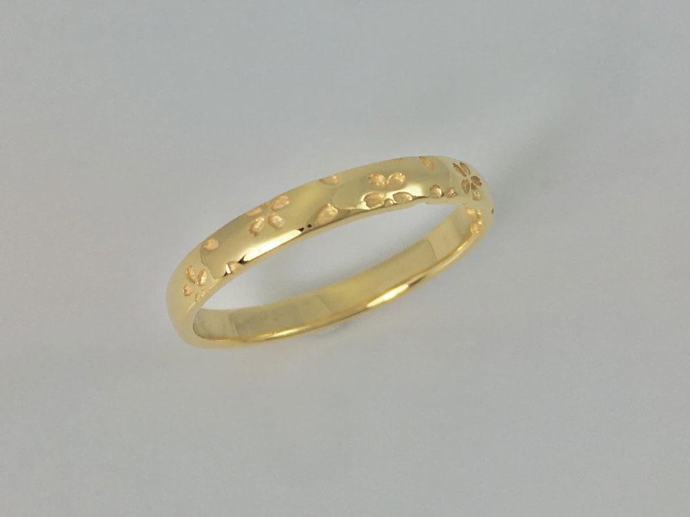 桜指輪イエローゴールド