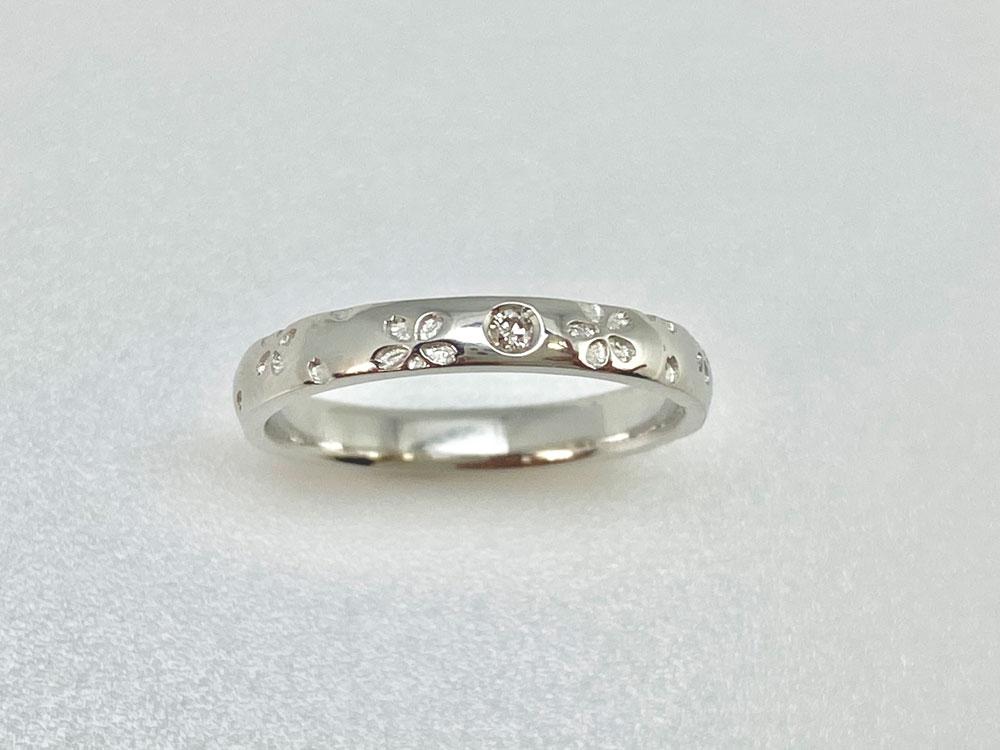 桜指輪プラチナ