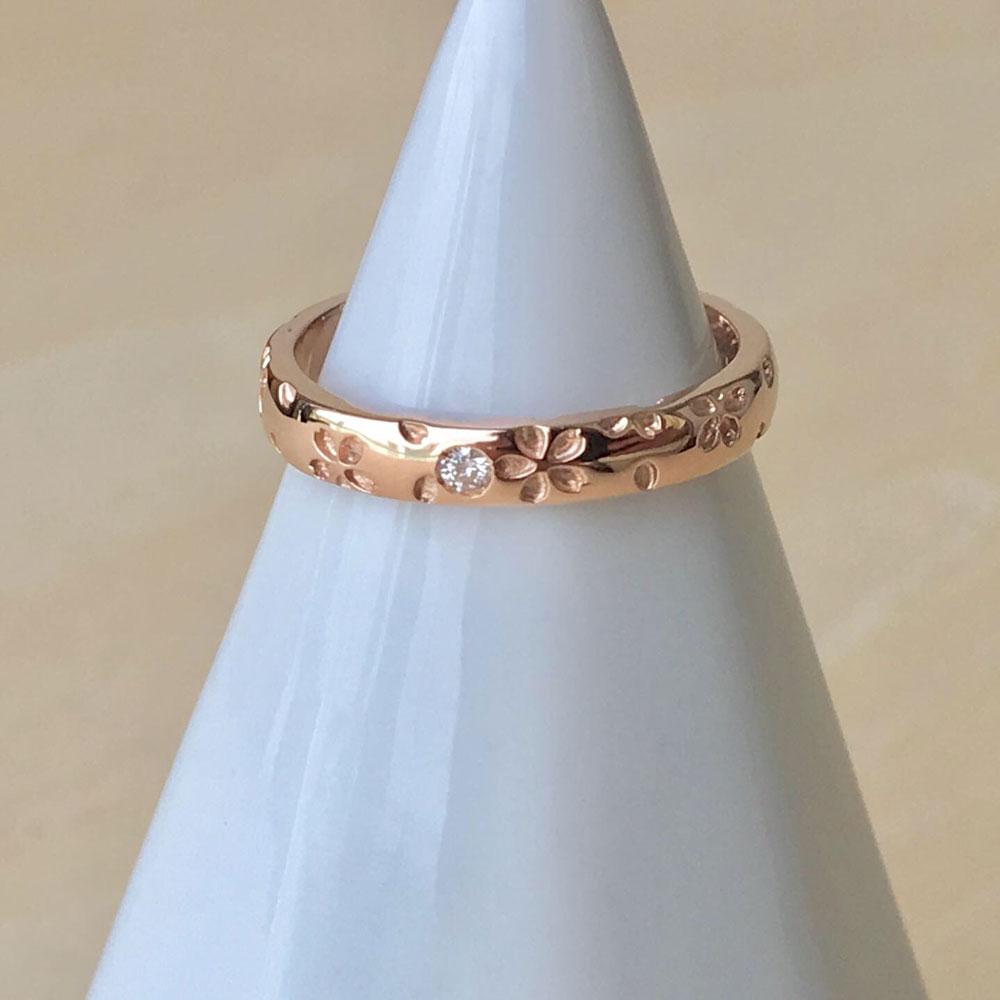 桜指輪ピンクゴールド
