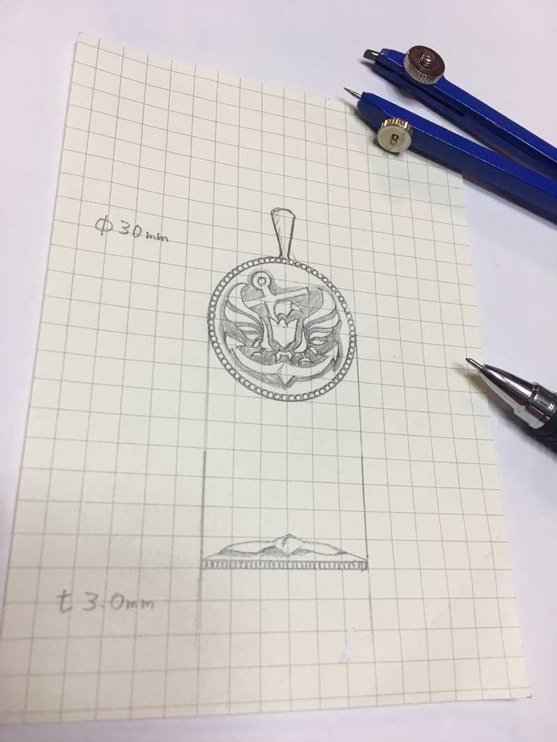 オーダーメイドコインデザイン画