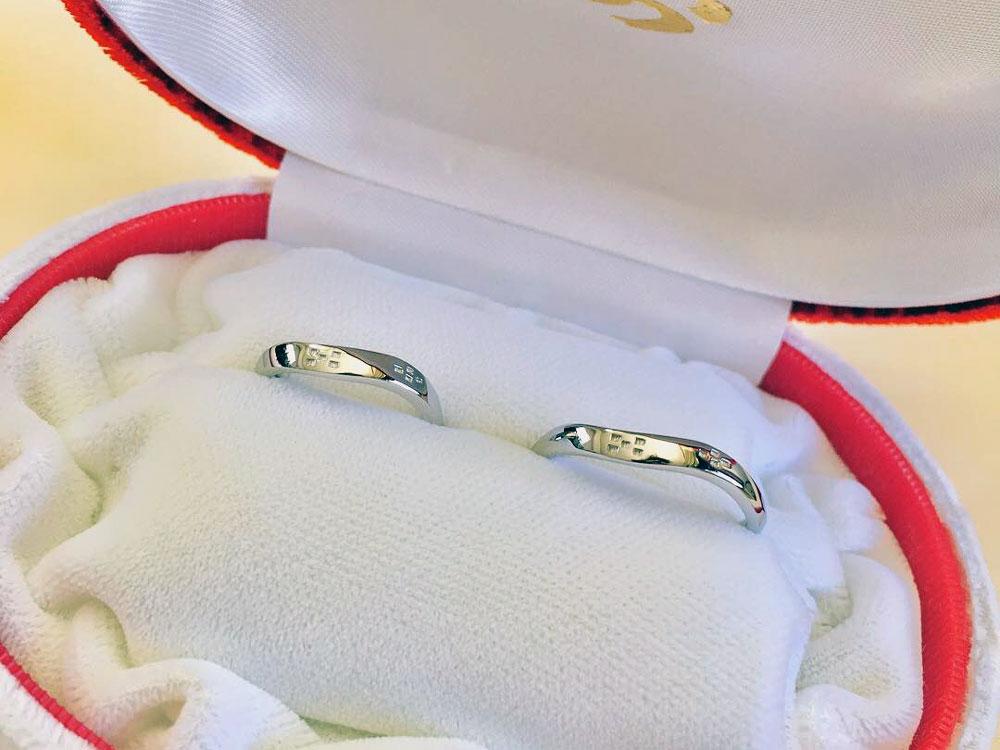 ミンサー指輪ツイストウェーブ1