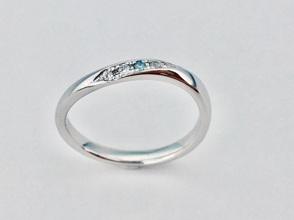 ミンサー指輪ツイストウェーブ4