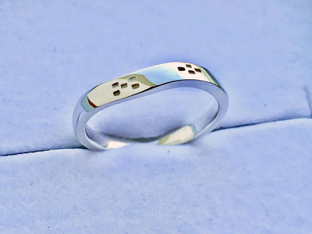 ミンサー指輪ツイストウェーブ5