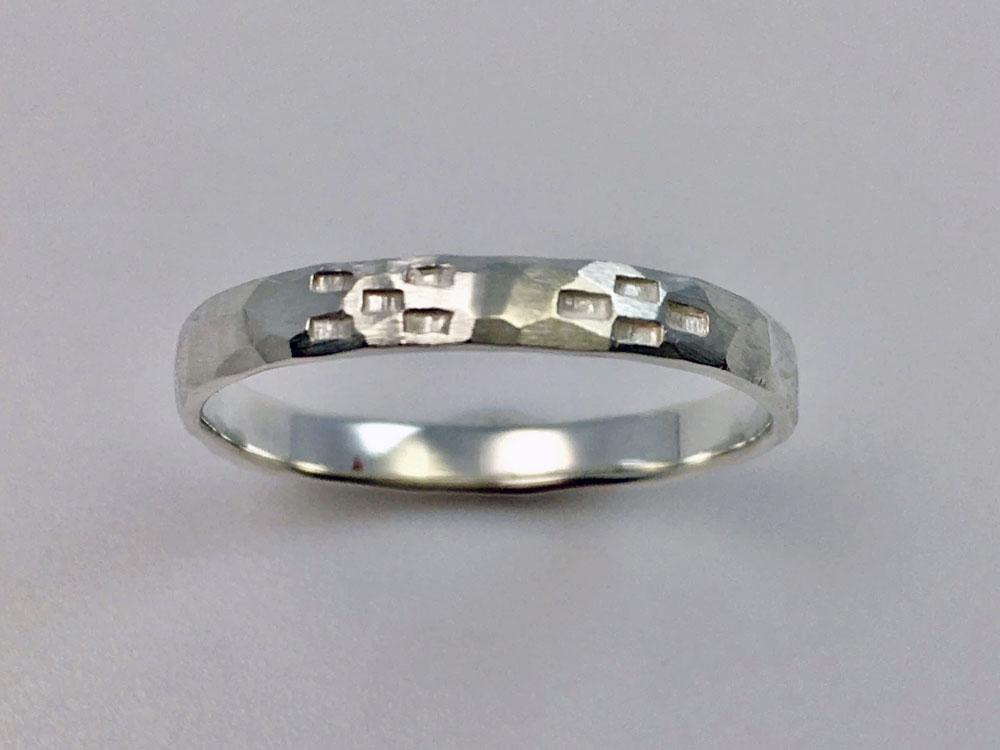 ミンサー指輪---槌目--3