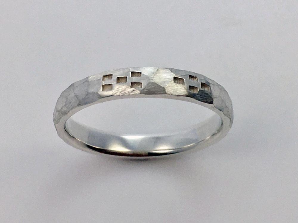 ミンサー指輪---槌目--5