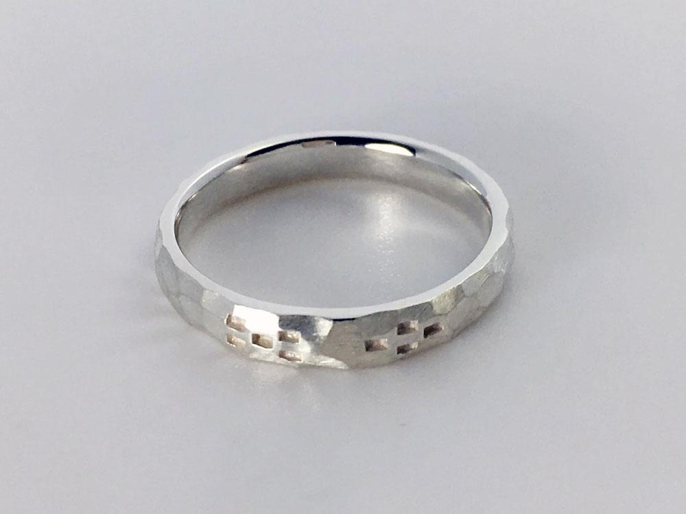 ミンサー指輪---槌目--6