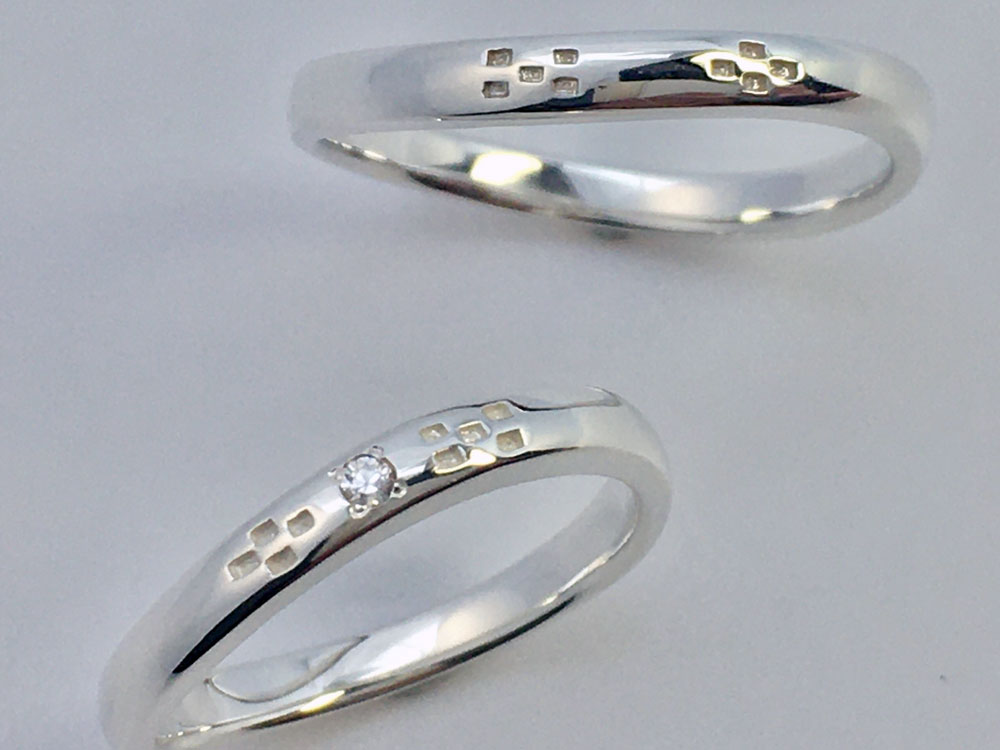 ミンサー指輪-甲丸ウェーブ-2