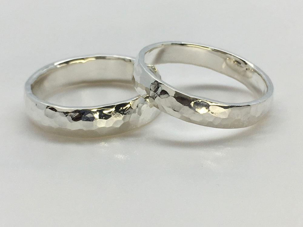 槌目-指輪--かたい-絆-4