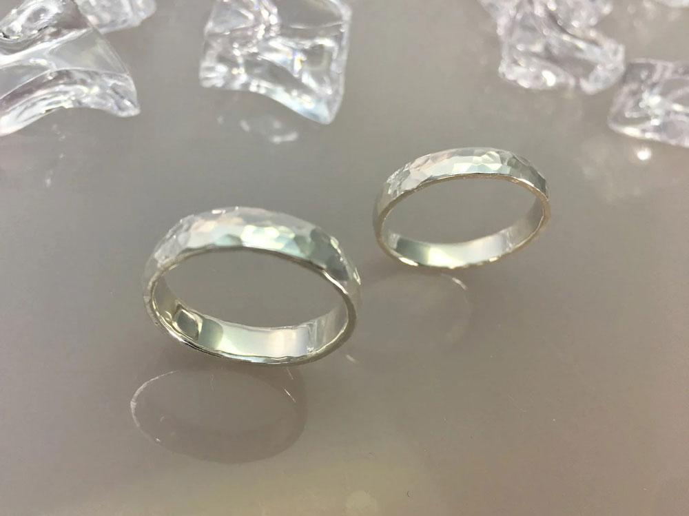 槌目-指輪--かたい-絆-5