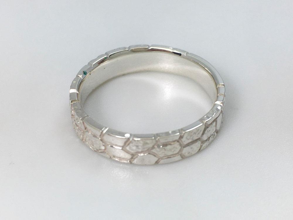 琉球石灰岩指輪--WhiteStoneRing-4