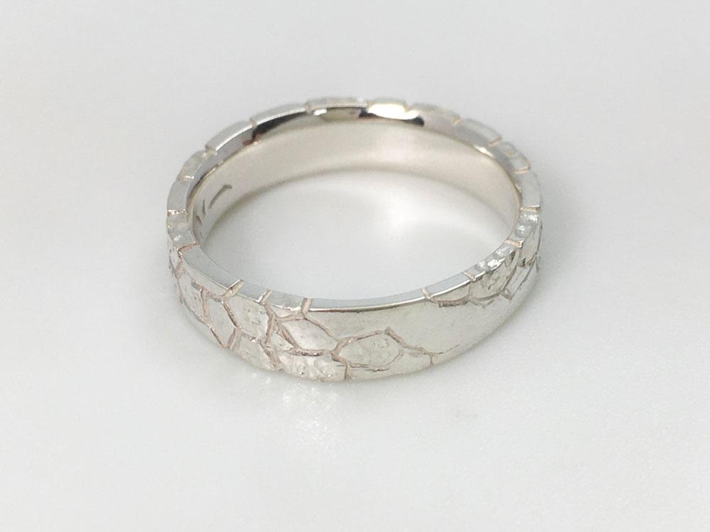 琉球石灰岩指輪--WhiteStoneRing-5