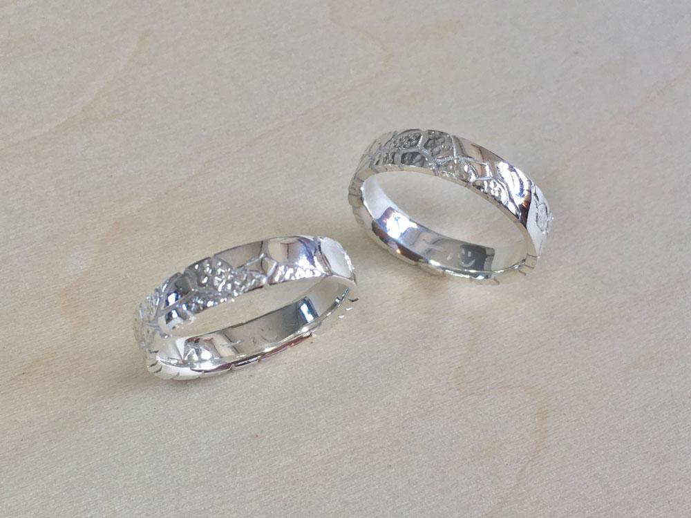 琉球石灰岩指輪--WhiteStoneRing-6