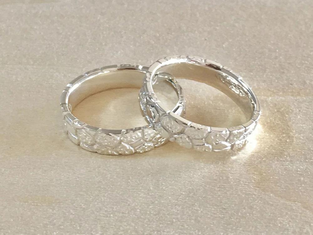 琉球石灰岩指輪--WhiteStoneRing-7