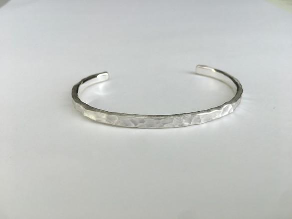 琉球石畳純銀バングル(平) -3.7ミリ-