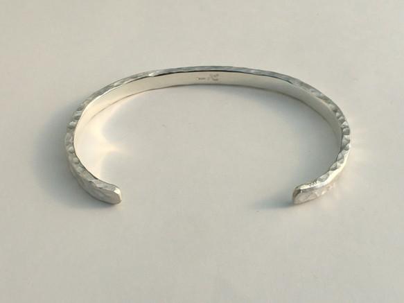 琉球石畳純銀バングル(平) -5.3ミリ-