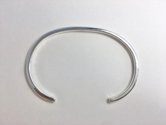 鍛造純銀バングル(甲丸)-3ミリ-