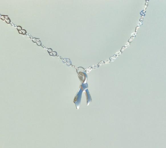 揺れるサン結びチャームブレスレット(Heart chain)