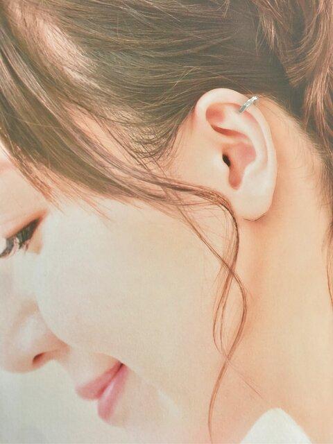 【全周槌目耳飾り小】-純銀-イヤーカフ-