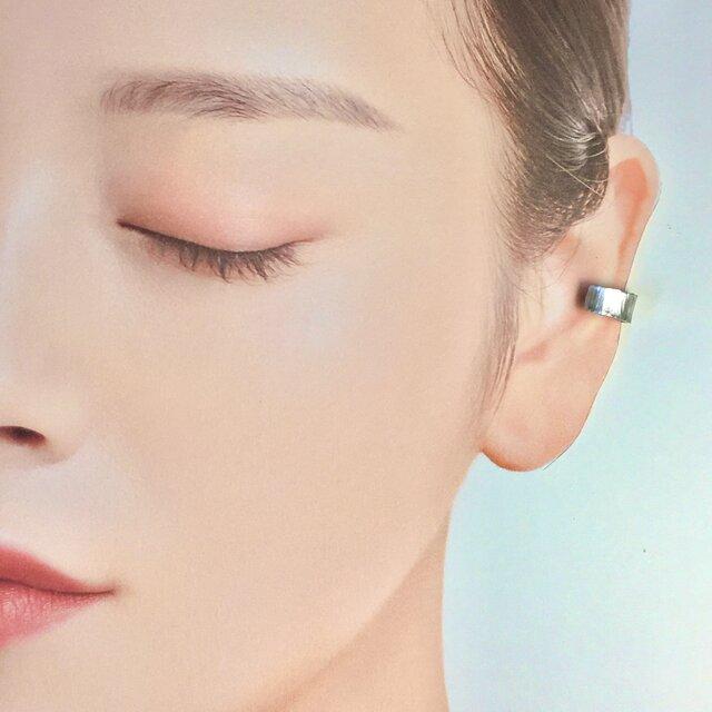 【槌目耳飾り】-純銀-イヤーカフ-