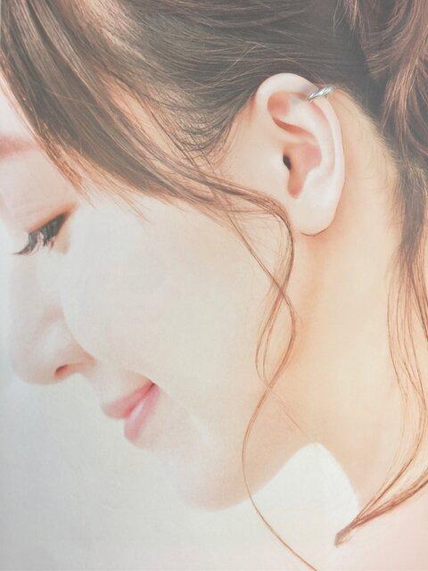 【螺旋 耳飾り】-純銀-イヤーカフ-