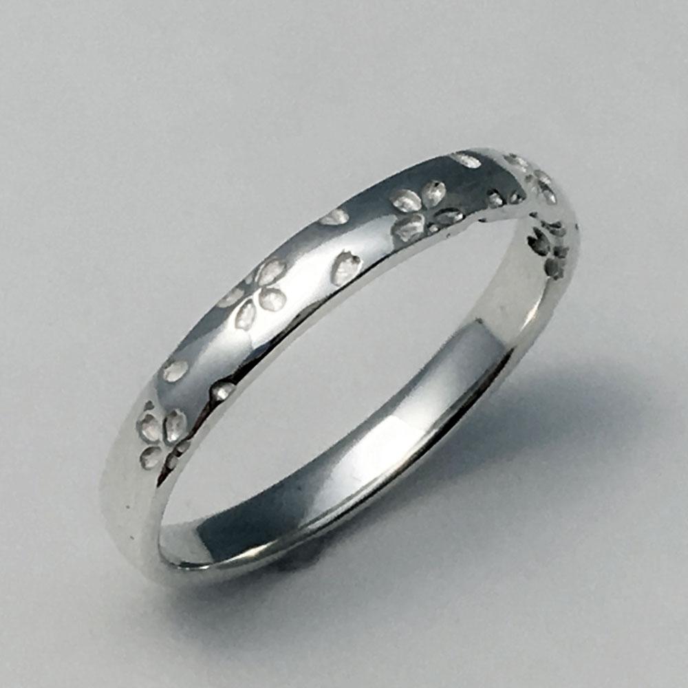 桜指輪プラチナ単品ダイヤ無し2