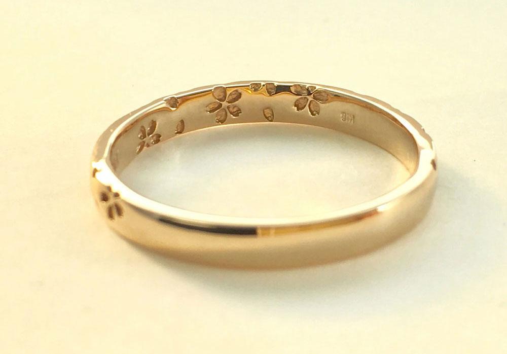 桜指輪内側