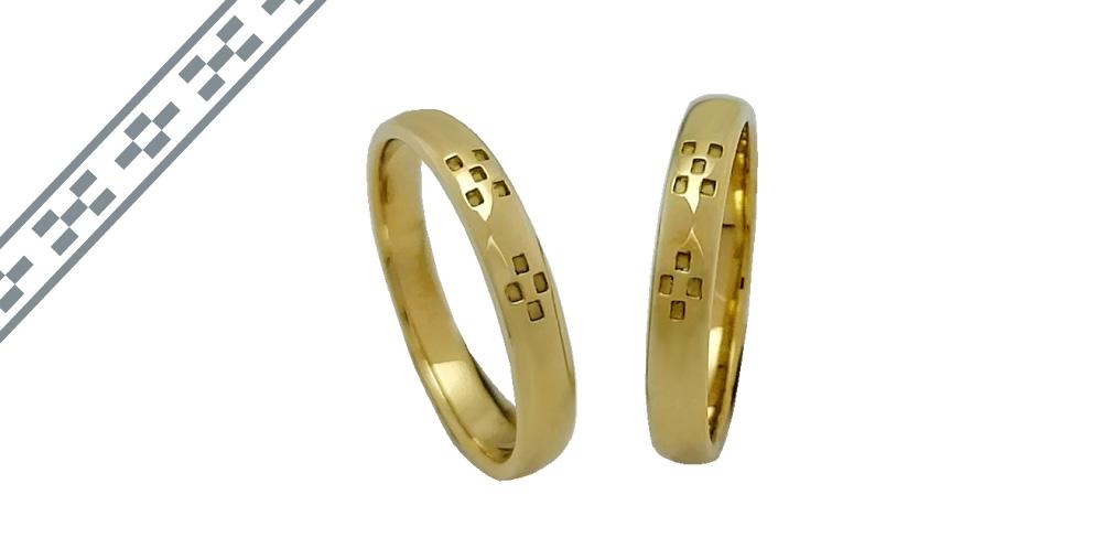 ミンサー指輪k18イエローゴールド