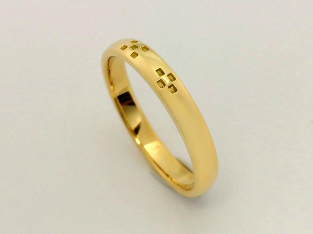 ミンサー指輪k18