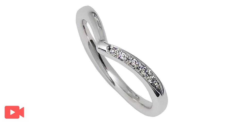 結婚指輪(1M0BR-11)動画あり女性用