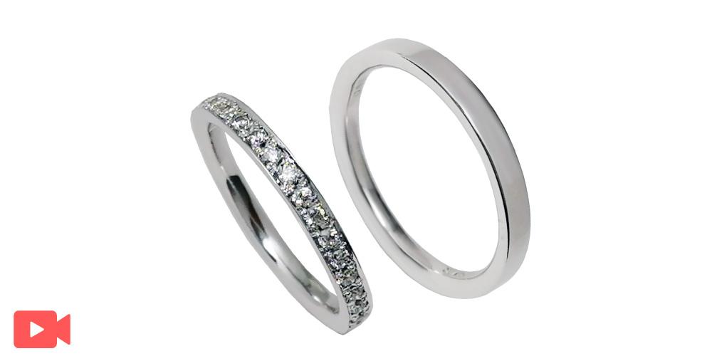 結婚指輪(1M0BR-7)動画あり