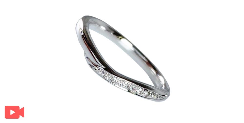 結婚指輪(1M0BR-9)女性用動画あり