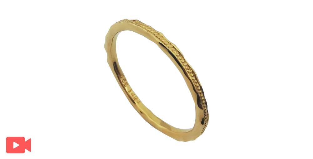 イエローゴールド結婚指輪石なし