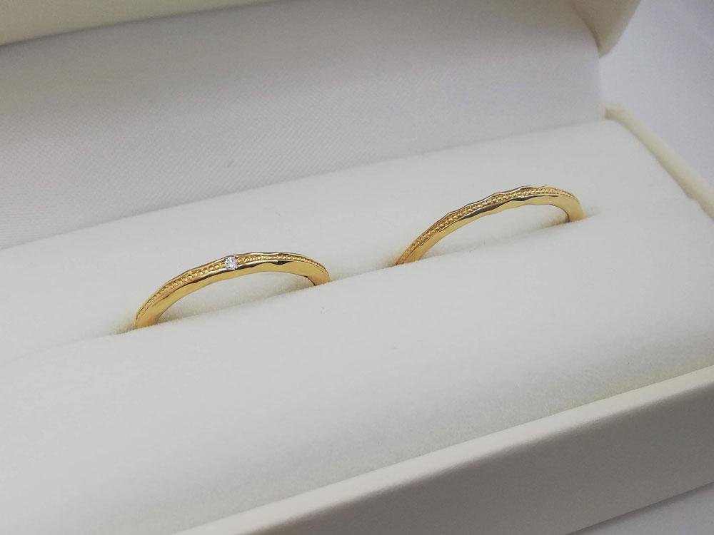 イエローゴールド結婚指輪10
